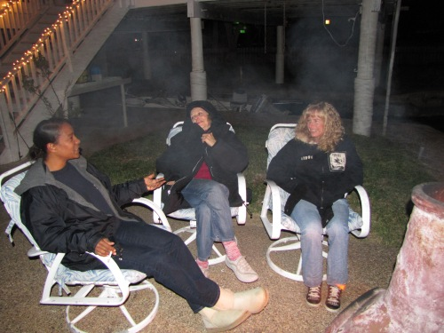 Three Camp Fire Girls Dishin'